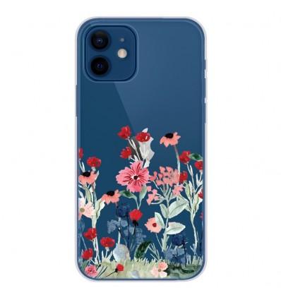 Coque en silicone Apple iPhone 12 - Printemps en fleurs