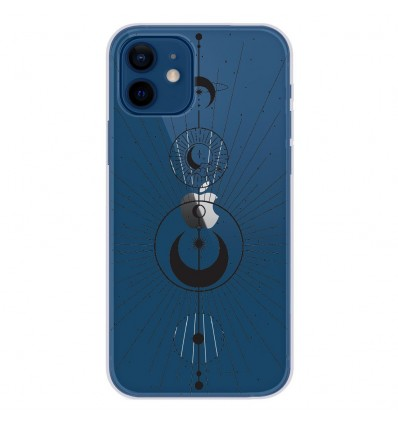Coque en silicone Apple iPhone 12 - Cercles de Lune