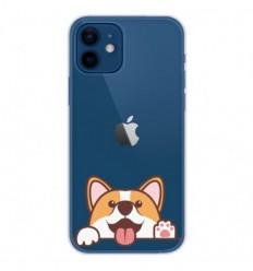 Coque en silicone Apple iPhone 12 - Coucou Corgi