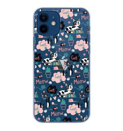 Coque en silicone Apple iPhone 12 - Miaou