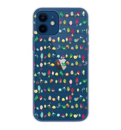 Coque en silicone Apple iPhone 12 - Oiseaux