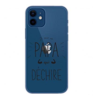Coque en silicone Apple iPhone 12 - Papa qui déchire