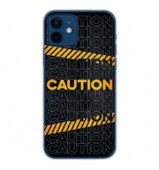 Coque en silicone Apple iPhone 12 - Caution
