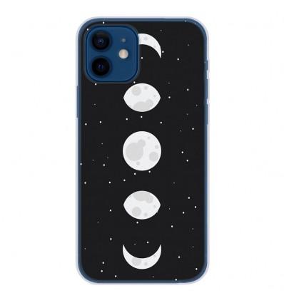 Coque en silicone Apple iPhone 12 - Phase de Lune