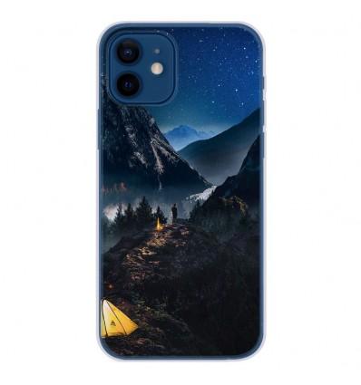 Coque en silicone Apple iPhone 12 - Seul en Montagne