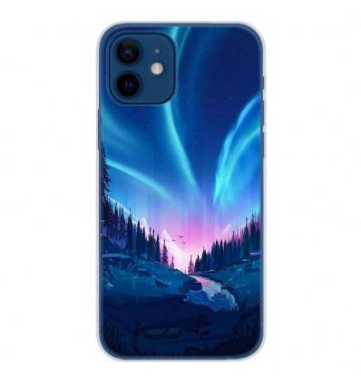 Coque en silicone Apple iPhone 12 - Tombée de nuit