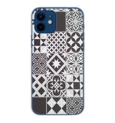 Coque en silicone Apple iPhone 12 - Carreaux de ciment