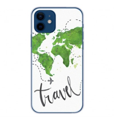 Coque en silicone Apple iPhone 12 - Map Travel