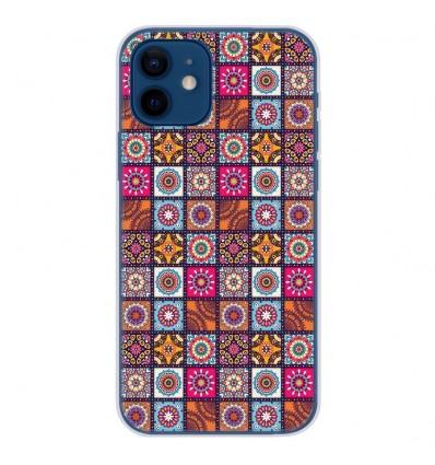 Coque en silicone Apple iPhone 12 - Patchwork Mandala