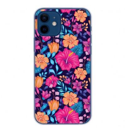Coque en silicone Apple iPhone 12 - Fleurs Exotiques