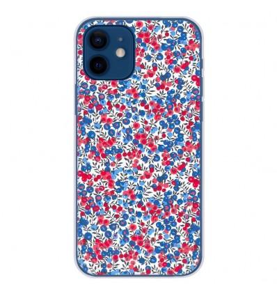 Coque en silicone Apple iPhone 12 - Liberty Wiltshire Bleu