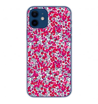 Coque en silicone Apple iPhone 12 - Liberty Wiltshire Rouge