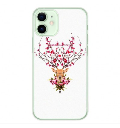 Coque en silicone Apple iPhone 12 Mini - RF Spring deer