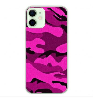 Coque en silicone Apple iPhone 12 Mini - Camouflage rose