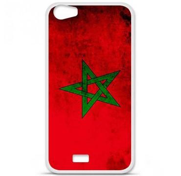 Coque en silicone Wiko Lenny 2 - Drapeau Maroc