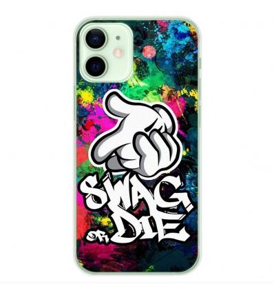 Coque en silicone Apple iPhone 12 Mini - Swag or die