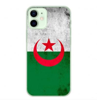 Coque en silicone Apple iPhone 12 Mini - Drapeau Algérie
