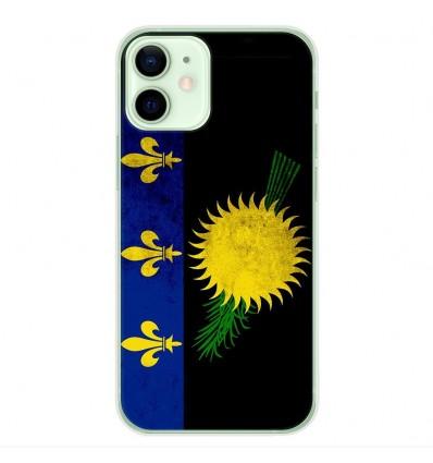 Coque en silicone Apple iPhone 12 Mini - Drapeau Guadeloupe