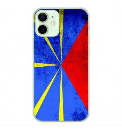 Coque en silicone Apple iPhone 12 Mini - Drapeau La Réunion