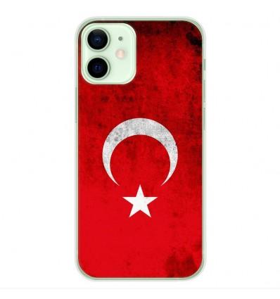 Coque en silicone Apple iPhone 12 Mini - Drapeau Turquie