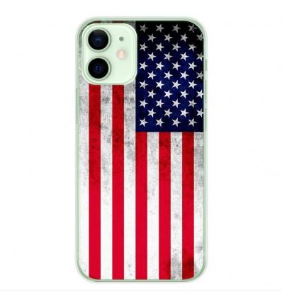 Coque en silicone Apple iPhone 12 Mini - Drapeau USA