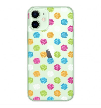 Coque en silicone Apple iPhone 12 Mini - Floral