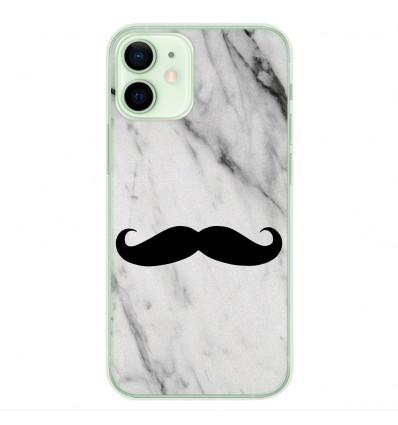 Coque en silicone Apple iPhone 12 Mini - Hipster Moustache
