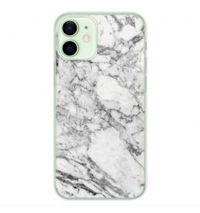 Coque en silicone Apple iPhone 12 Mini - Marbre Blanc