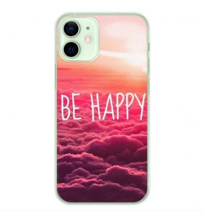 Coque en silicone Apple iPhone 12 Mini - Be Happy nuage