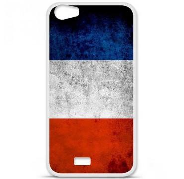 Coque en silicone pour Wiko Lenny 2 - Drapeau France