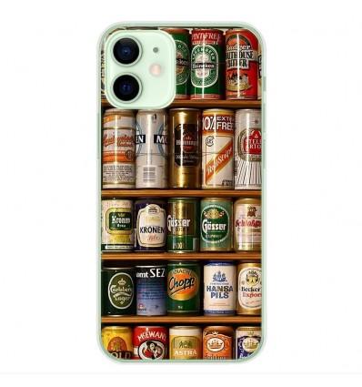 Coque en silicone Apple iPhone 12 Mini - Canettes
