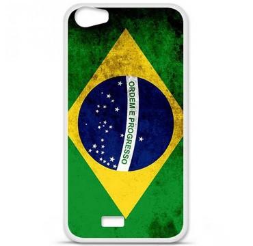 Coque en silicone pour Wiko Lenny 2 - Drapeau Brésil