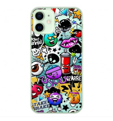 Coque en silicone Apple iPhone 12 Mini - Graffiti 2