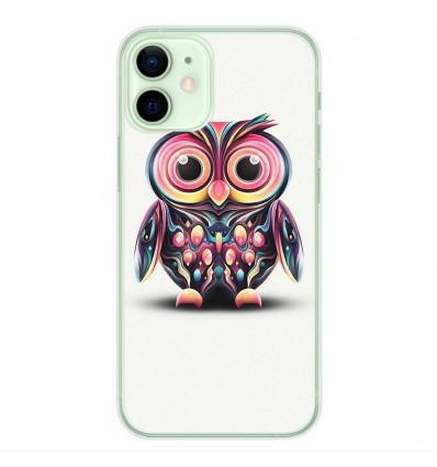 Coque en silicone Apple iPhone 12 Mini - Hiboux coloré