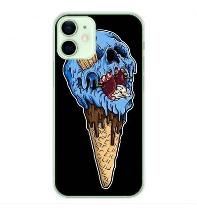 Coque en silicone Apple iPhone 12 Mini - Ice cream skull
