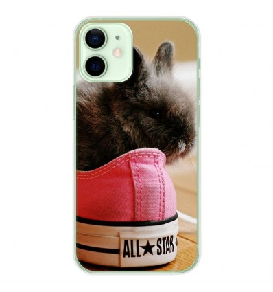 Coque en silicone Apple iPhone 12 Mini - Lapin allstar