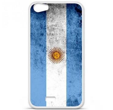 Coque en silicone pour Wiko Lenny 2 - Drapeau Argentine