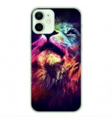 Coque en silicone Apple iPhone 12 Mini - Lion swag