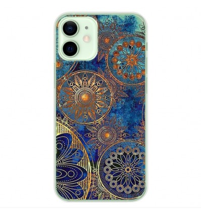 Coque en silicone Apple iPhone 12 Mini - Mandalla bleu