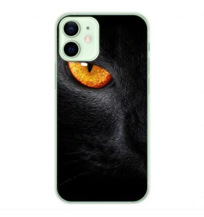 Coque en silicone Apple iPhone 12 Mini - Oeil de Panterre
