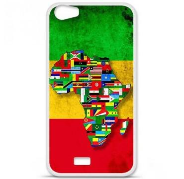 Coque en silicone pour Wiko Lenny 2 - Drapeau Africa Unite