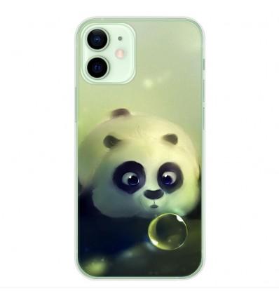 Coque en silicone Apple iPhone 12 Mini - Panda Bubble