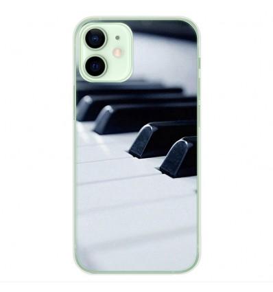 Coque en silicone Apple iPhone 12 Mini - Piano