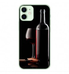 Coque en silicone Apple iPhone 12 Mini - Vin