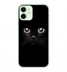 Coque en silicone Apple iPhone 12 Mini - Yeux de chat