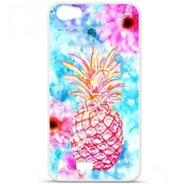 Coque en silicone Wiko Lenny 2 - Ananas