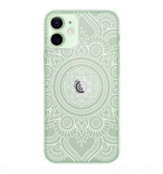 Coque en silicone Apple iPhone 12 Mini - Mandala blanc