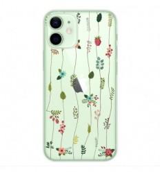 Coque en silicone Apple iPhone 12 Mini - Montée de fleurs