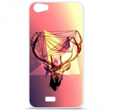 Coque en silicone Wiko Lenny 2 - Cerf Hipster