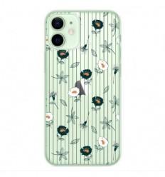 Coque en silicone Apple iPhone 12 Mini - Fleurs de Jardin